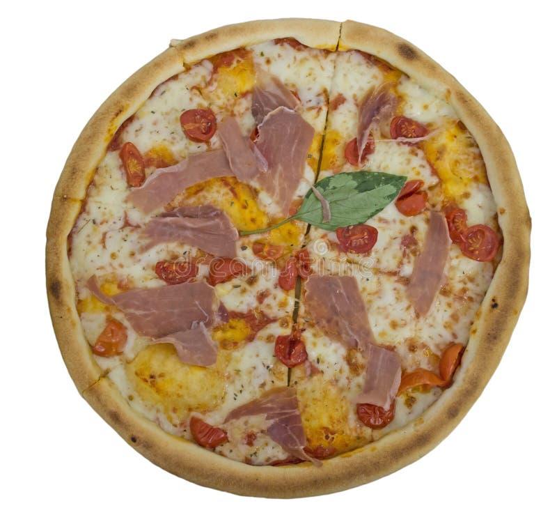 Odosobniony pizzy prosciutto obraz stock