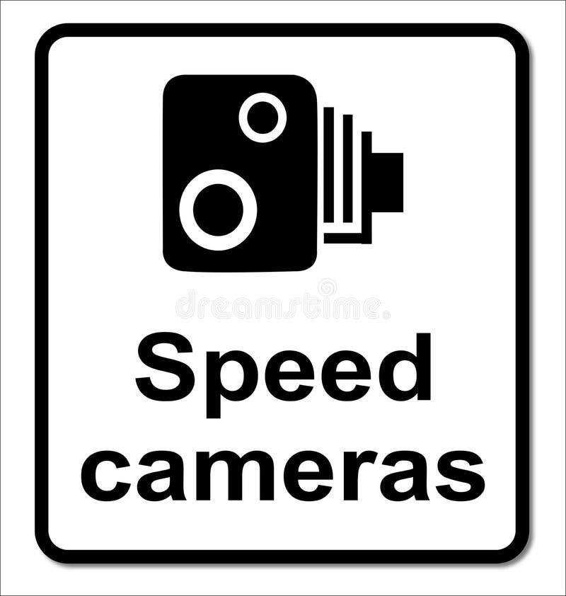 Odosobniony prędkości kamer znak ilustracja wektor