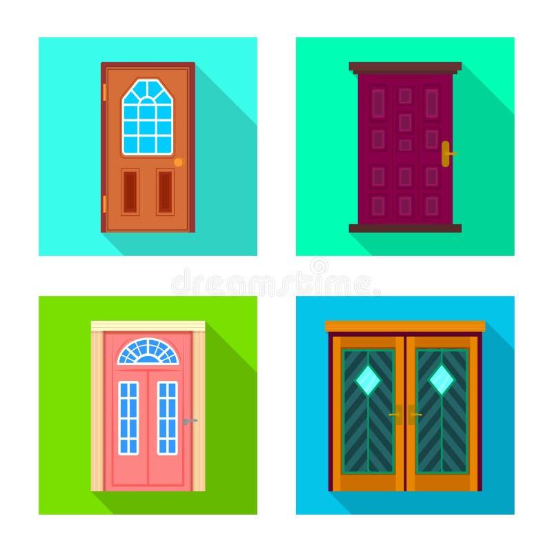 Odosobniony przedmiot architektura i nowożytny symbol Kolekcja architektury i budowy wektorowa ikona dla zapasu ilustracji