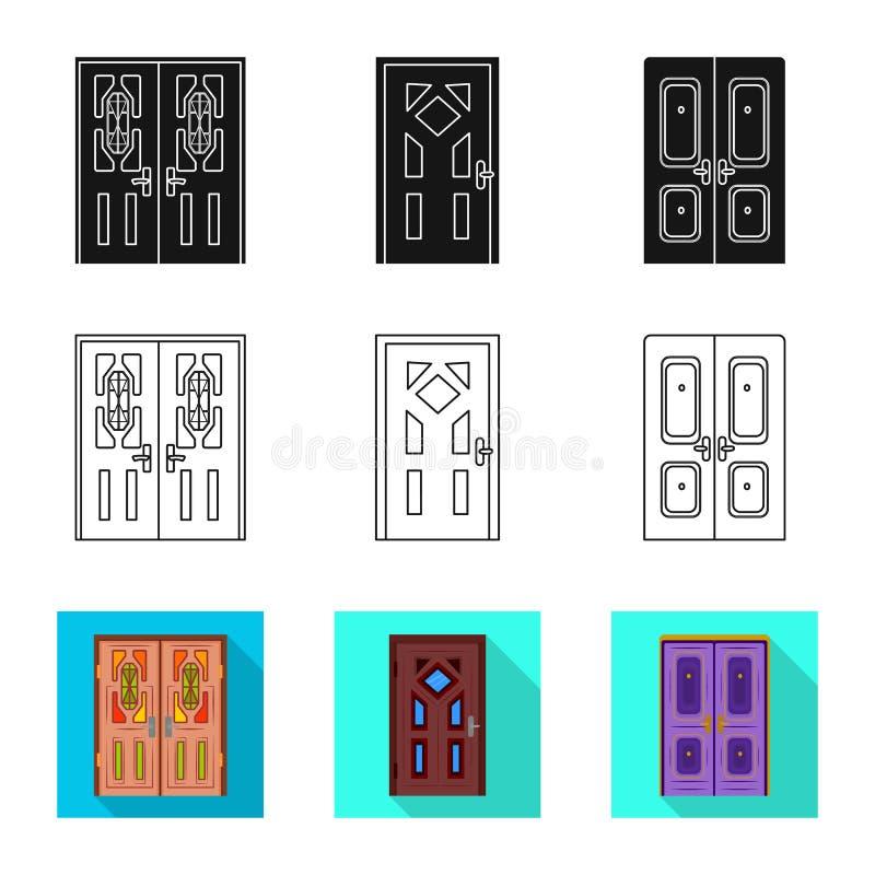 Odosobniony przedmiot architektura i nowożytny znak Kolekcja architektury i budowy wektorowa ikona dla zapasu ilustracja wektor