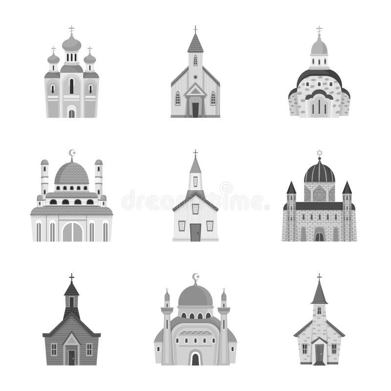 Odosobniony przedmiot architektura i wiary ikona Kolekcja architektura i tradycyjny akcyjny symbol dla sieci royalty ilustracja