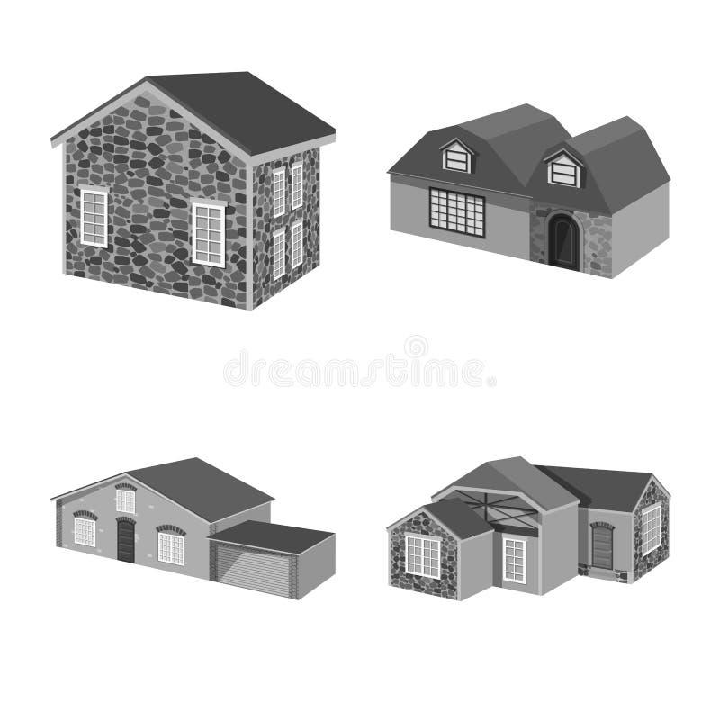 Odosobniony przedmiot architektury i nieruchomo?ci symbol Kolekcja architektura i lokalowy akcyjny symbol dla sieci royalty ilustracja
