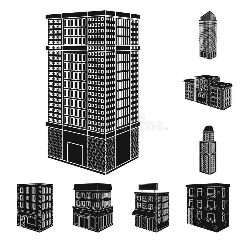 Odosobniony przedmiot architektury i nieruchomo?ci symbol Kolekcja architektury i budowy akcyjny symbol dla sieci ilustracji