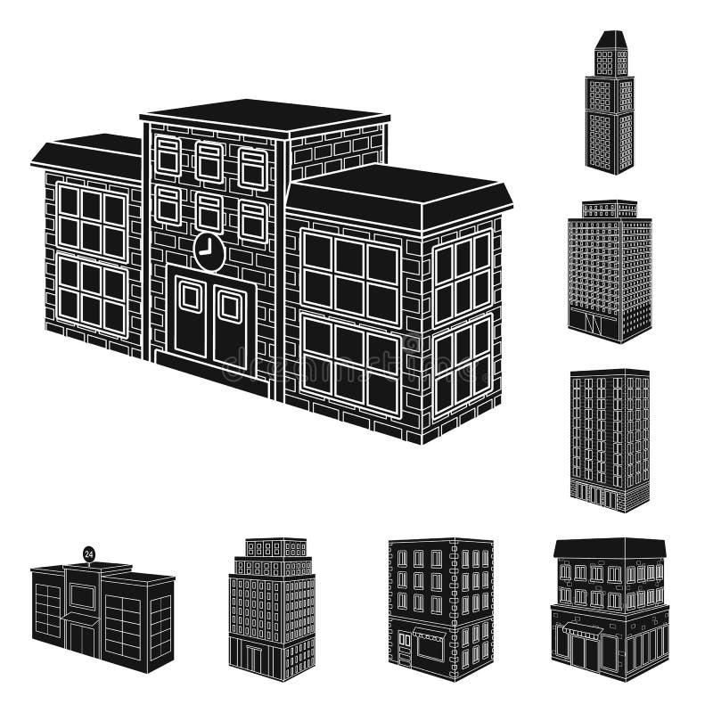 Odosobniony przedmiot architektury i nieruchomo?ci znak Set architektury i budowy akcyjny symbol dla sieci ilustracja wektor
