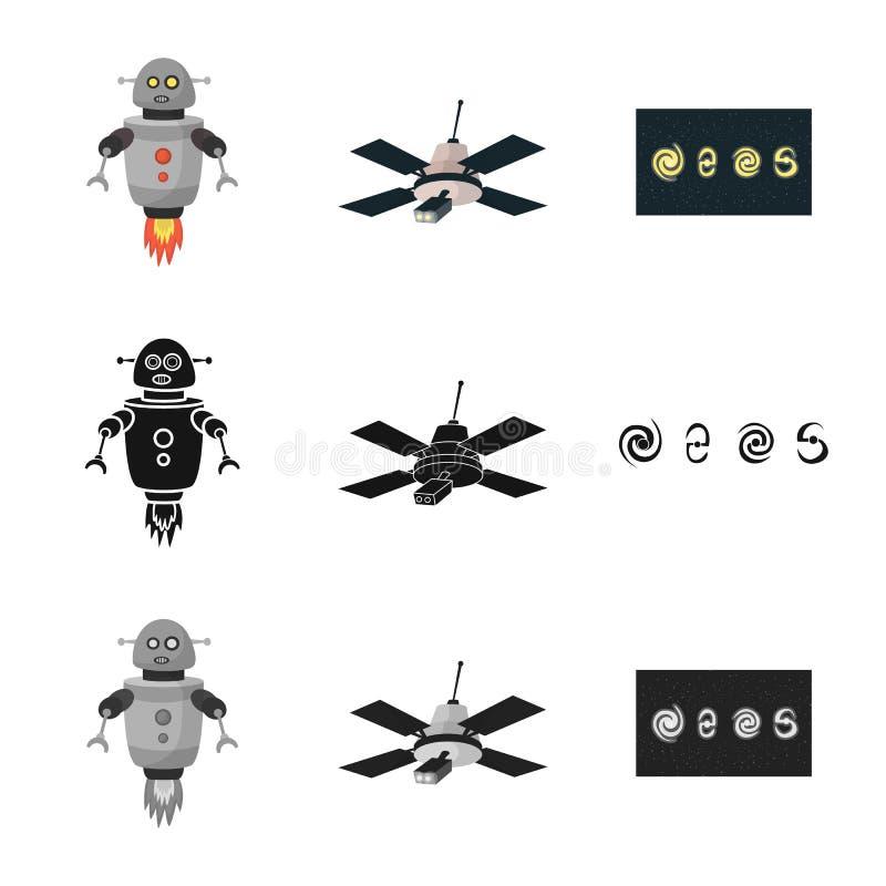Odosobniony przedmiot astronomii i technologii logo Set astronomia i niebo akcyjna wektorowa ilustracja royalty ilustracja
