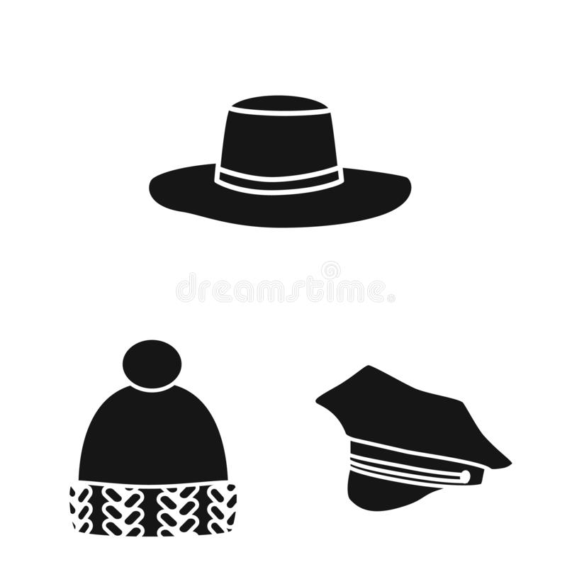 Odosobniony przedmiot beanie i bereta ikona Kolekcja beanie i je?arki akcyjna wektorowa ilustracja ilustracja wektor