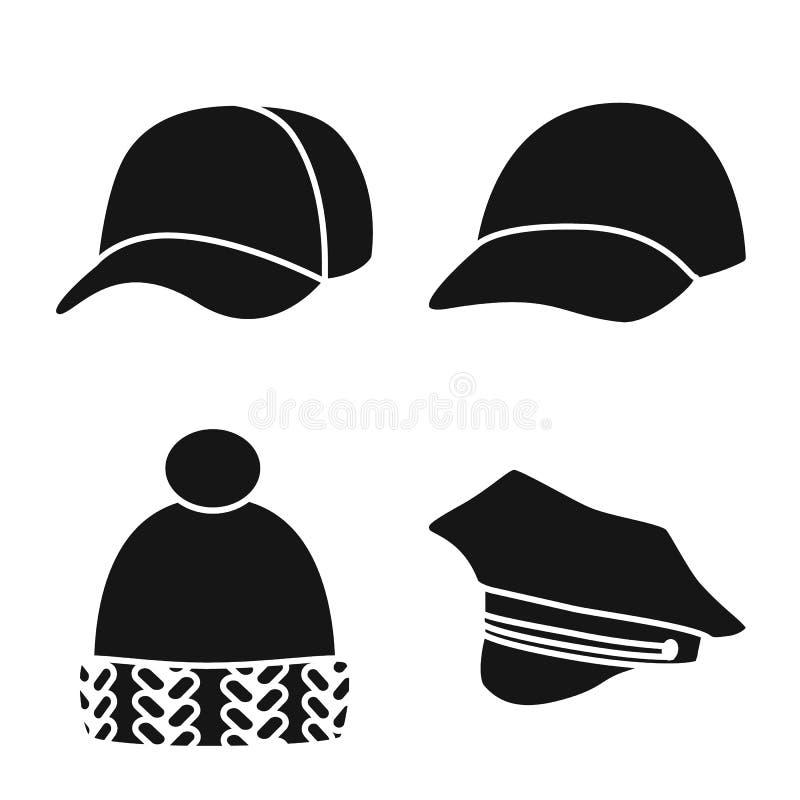 Odosobniony przedmiot beanie i bereta ikona Kolekcja beanie i je?arki wektorowa ikona dla zapasu royalty ilustracja