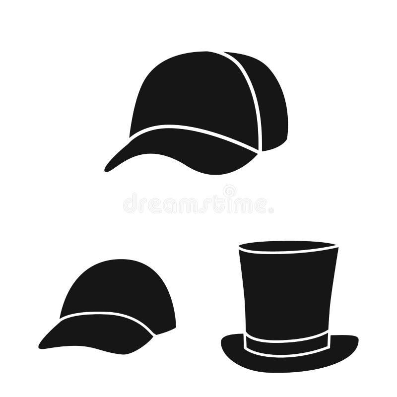 Odosobniony przedmiot beanie i bereta logo Set beanie i je?arki akcyjny symbol dla sieci royalty ilustracja