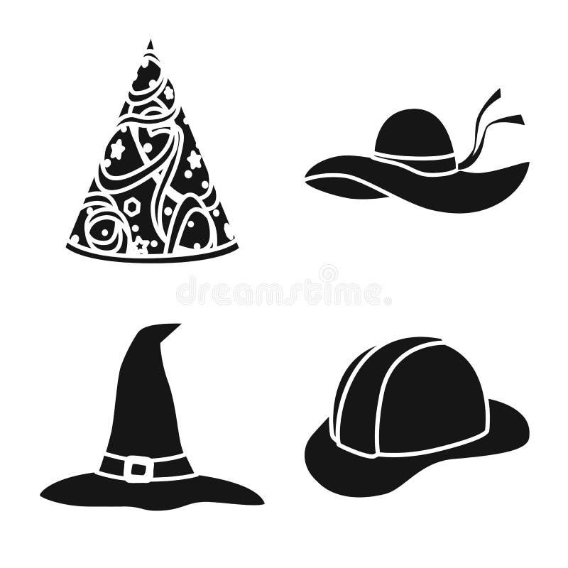 Odosobniony przedmiot beanie i bereta symbol Kolekcja beanie i je?arki wektorowa ikona dla zapasu ilustracji