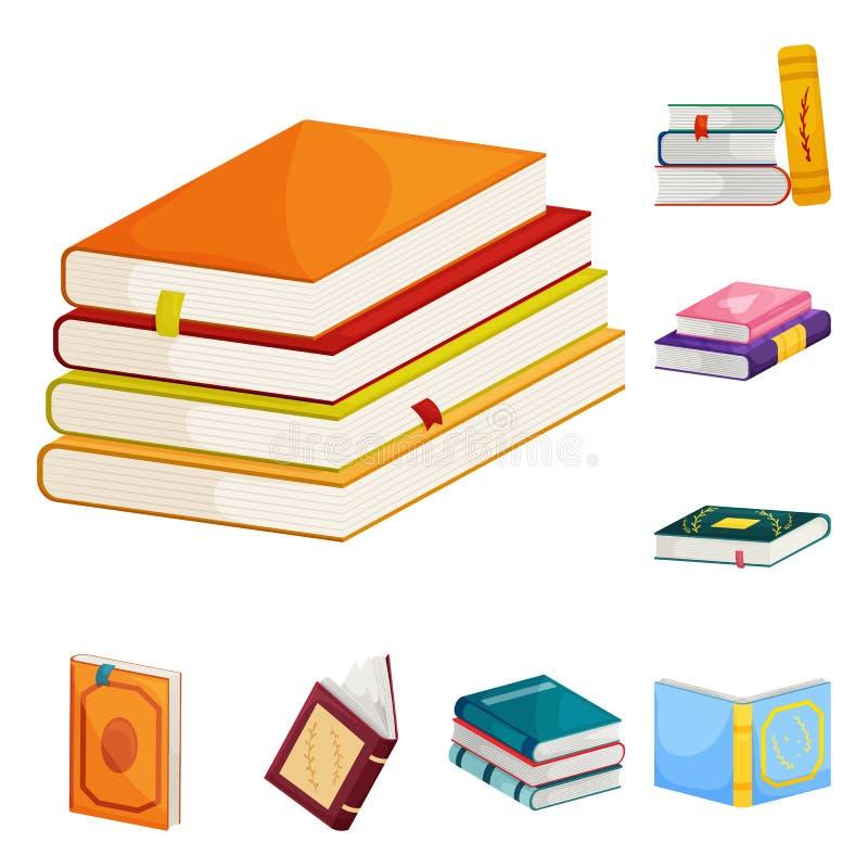 Odosobniony przedmiot biblioteki i bookstore ikona Set biblioteki i literatury akcyjny symbol dla sieci royalty ilustracja