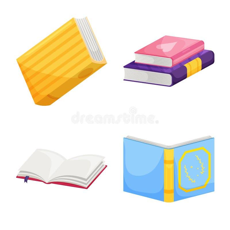 Odosobniony przedmiot biblioteki i bookstore znak Kolekcja biblioteki i literatury wektorowa ikona dla zapasu royalty ilustracja