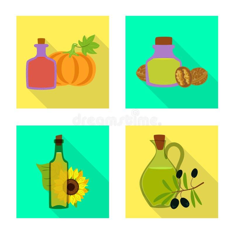 Odosobniony przedmiot butelki i szk?a znak Set butelka i rolnictwo akcyjny symbol dla sieci ilustracji