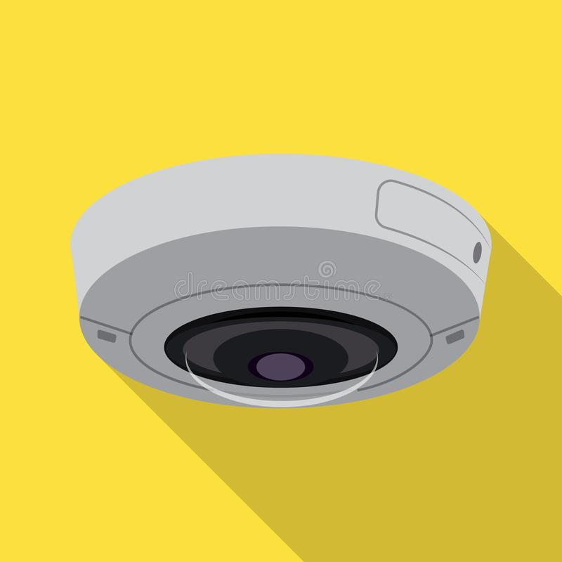 Odosobniony przedmiot cctv i kamery znak Kolekcja cctv i systemu akcyjny symbol dla sieci ilustracja wektor
