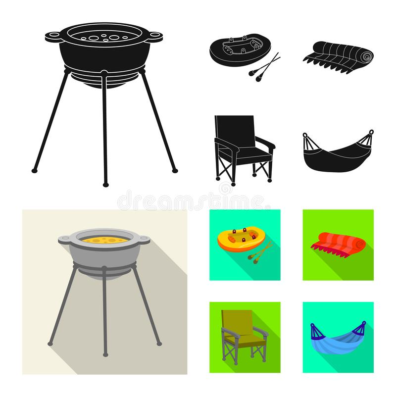 Odosobniony przedmiot cookout i przyrody ikona Kolekcja cookout i odpoczynku wektorowa ikona dla zapasu ilustracji