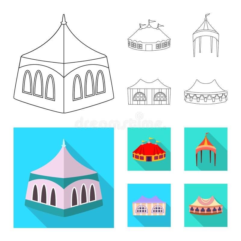 Odosobniony przedmiot dachu i falcowania symbol Set dach i architektury akcyjna wektorowa ilustracja ilustracji