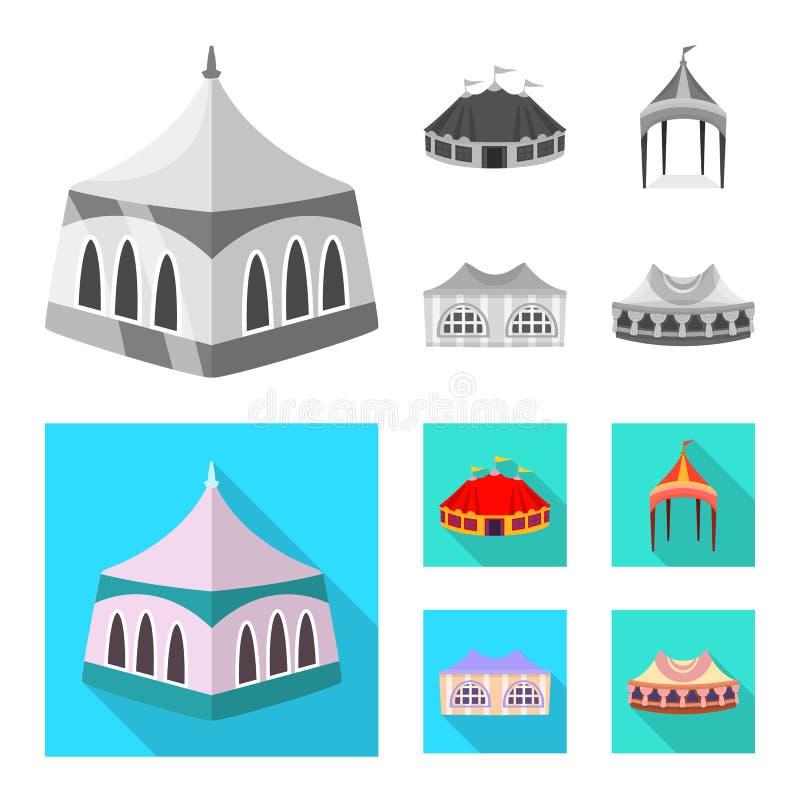 Odosobniony przedmiot dachu i falcowania symbol Set dach i architektury akcyjna wektorowa ilustracja royalty ilustracja
