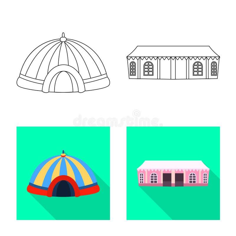 Odosobniony przedmiot dachu i falcowania znak Set dach i architektury akcyjna wektorowa ilustracja royalty ilustracja