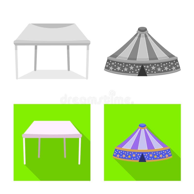 Odosobniony przedmiot dachu i falcowania znak Set dach i architektury akcyjna wektorowa ilustracja ilustracji