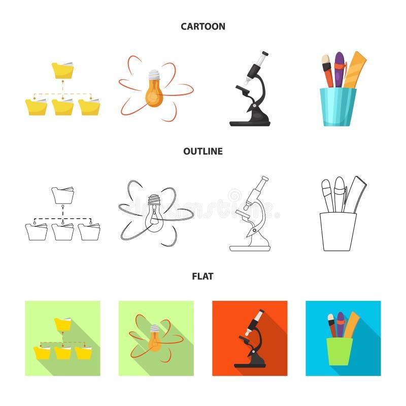 Odosobniony przedmiot edukaci i uczenie logo Kolekcja edukacja i szkoły wektorowa ikona dla zapasu royalty ilustracja