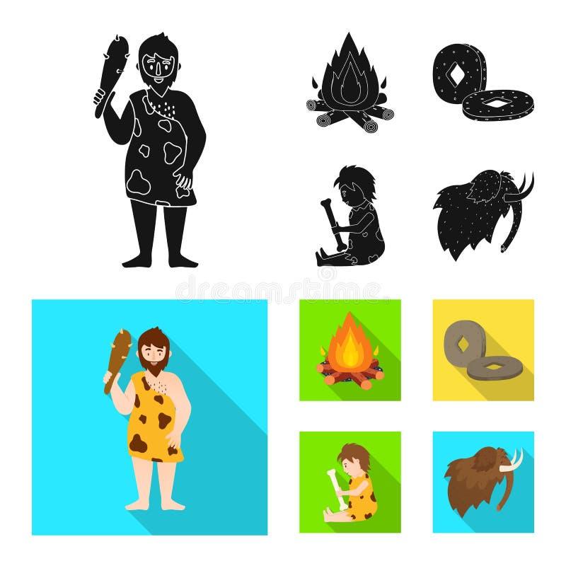 Odosobniony przedmiot ewolucja i neolityczny znak Kolekcja ewolucja i pradawna akcyjna wektorowa ilustracja ilustracji