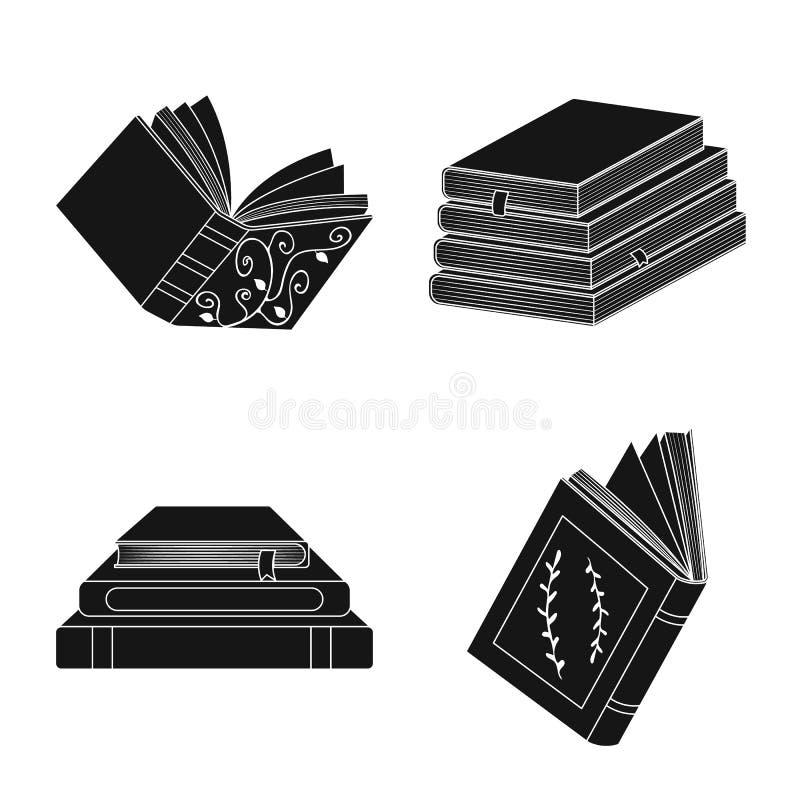 Odosobniony przedmiot ilustracyjny i ewidencyjny logo Set ilustracji i bookstore akcyjny symbol dla sieci royalty ilustracja