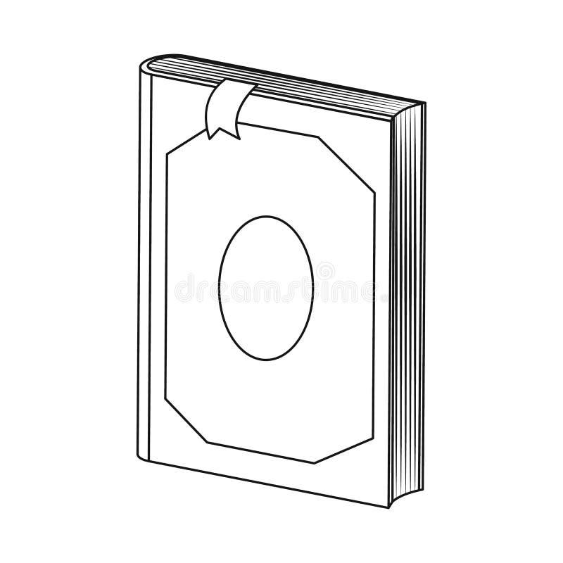 Odosobniony przedmiot książki i słownika logo Set książki i strony wektorowa ikona dla zapasu ilustracja wektor
