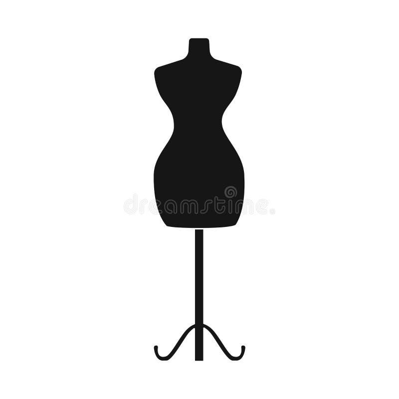 Odosobniony przedmiot mannequin i krawczyny symbol Kolekcja mannequin i manikin akcyjny symbol dla sieci ilustracja wektor
