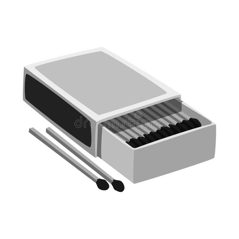 Odosobniony przedmiot matchbox i pudełka ikona Kolekcja matchbox i matchstick wektorowa ikona dla zapasu royalty ilustracja