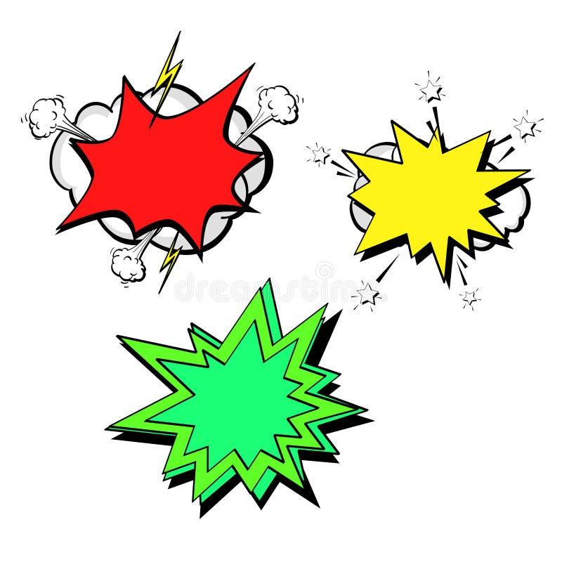 Odosobniony przedmiot na białym tle, lato kolor Komiks Versus sztandaru szablonu tła huk ilustracja wektor