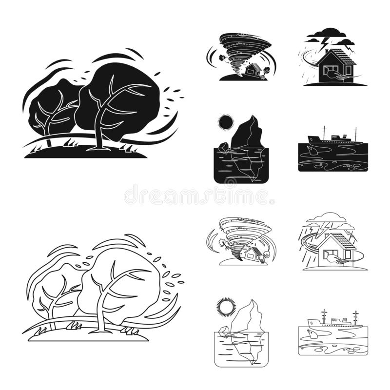 Odosobniony przedmiot naturalna i katastrofa ikona Kolekcja naturalna i ryzyko wektorowa ikona dla zapasu ilustracji