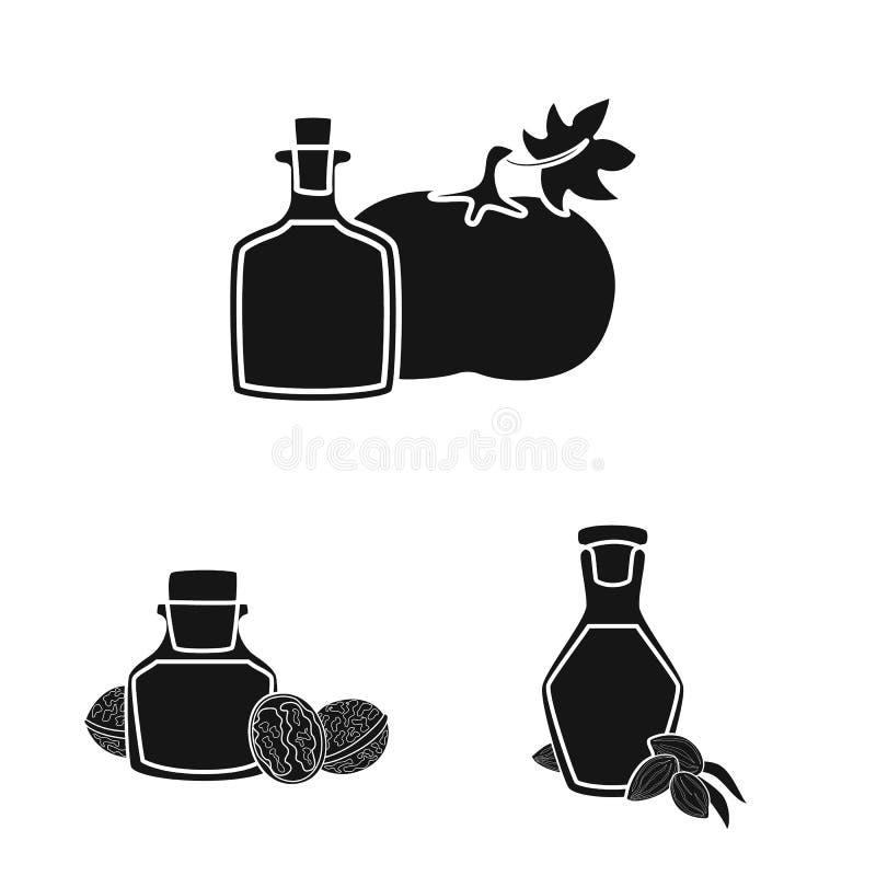 Odosobniony przedmiot olej i rolnictwo symbol Kolekcja nafciana i szklana wektorowa ikona dla zapasu ilustracji