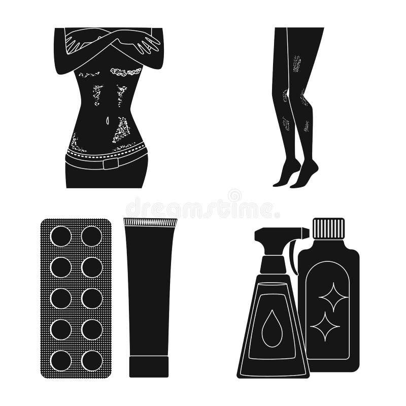 Odosobniony przedmiot opieka zdrowotna i medyczna ikona Set opieki zdrowotnej i dermatologii akcyjna wektorowa ilustracja ilustracja wektor
