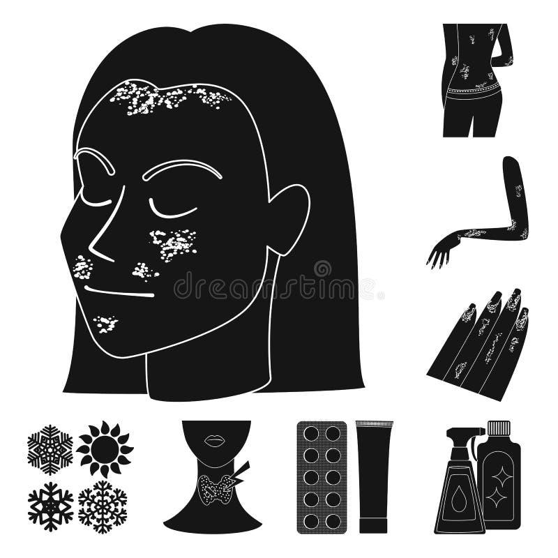 Odosobniony przedmiot opieka zdrowotna i medyczny symbol Kolekcja opieki zdrowotnej i dermatologii akcyjna wektorowa ilustracja royalty ilustracja