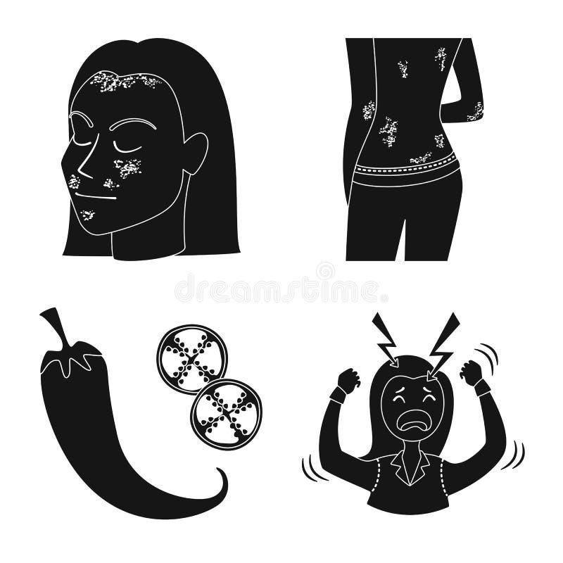 Odosobniony przedmiot opieka zdrowotna i medyczny symbol Set opieki zdrowotnej i dermatologii akcyjny symbol dla sieci ilustracji