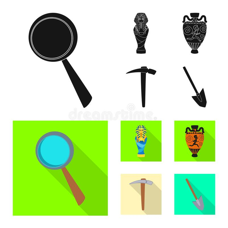 Odosobniony przedmiot opowie?ci i rzeczy symbol Set opowie?? i atrybuty zaopatrujemy wektorow? ilustracj? ilustracji