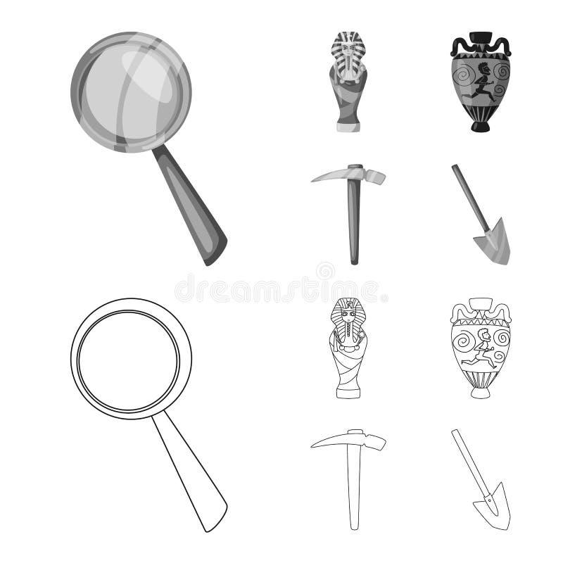 Odosobniony przedmiot opowie?? i rzeczy ikona Kolekcja opowie?ci i atrybut?w akcyjny symbol dla sieci royalty ilustracja