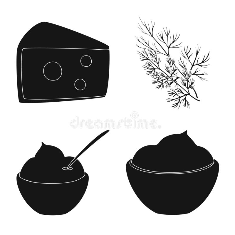 Odosobniony przedmiot organicznie i kulinarny logo Kolekcja organicznie i smaki akcyjny symbol dla sieci ilustracja wektor