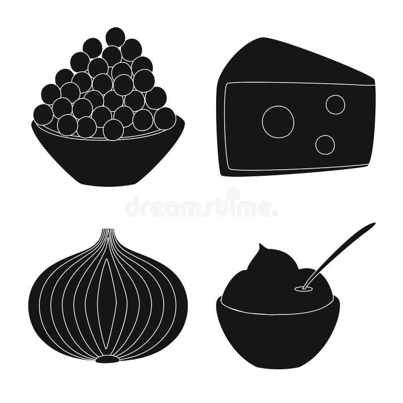 Odosobniony przedmiot organicznie i kulinarny logo Kolekcja organicznie i smaki wektorowa ikona dla zapasu ilustracja wektor