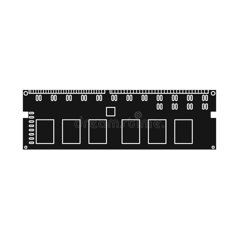 Odosobniony przedmiot pamięci i baranu symbol Kolekcja pamięć i megabajty zaopatrujemy wektorową ilustrację ilustracja wektor