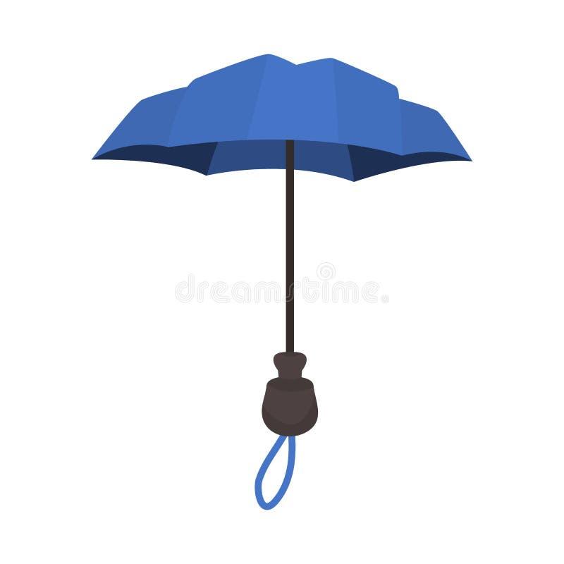 Odosobniony przedmiot parasol i sprawozdanie ikona Kolekcja parasol i klasyczny akcyjny symbol dla sieci royalty ilustracja
