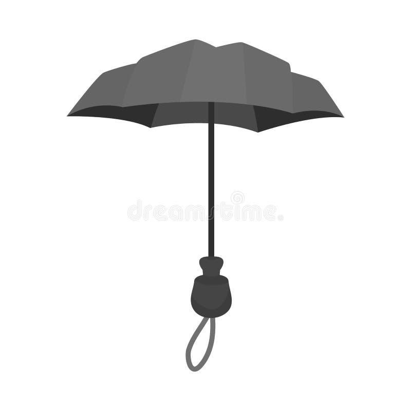 Odosobniony przedmiot parasol i sprawozdanie ikona Kolekcja parasol i klasyka akcyjna wektorowa ilustracja royalty ilustracja