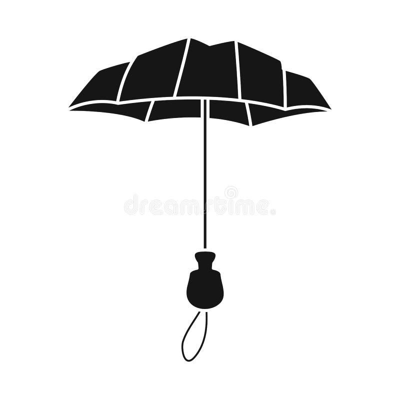 Odosobniony przedmiot parasol i sprawozdanie symbol Kolekcja parasol i klasyka wektorowa ikona dla zapasu ilustracji