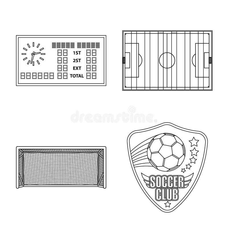 Odosobniony przedmiot piłka nożna i przekładni ikona Kolekcja piłki nożnej i turnieju akcyjny symbol dla sieci ilustracja wektor