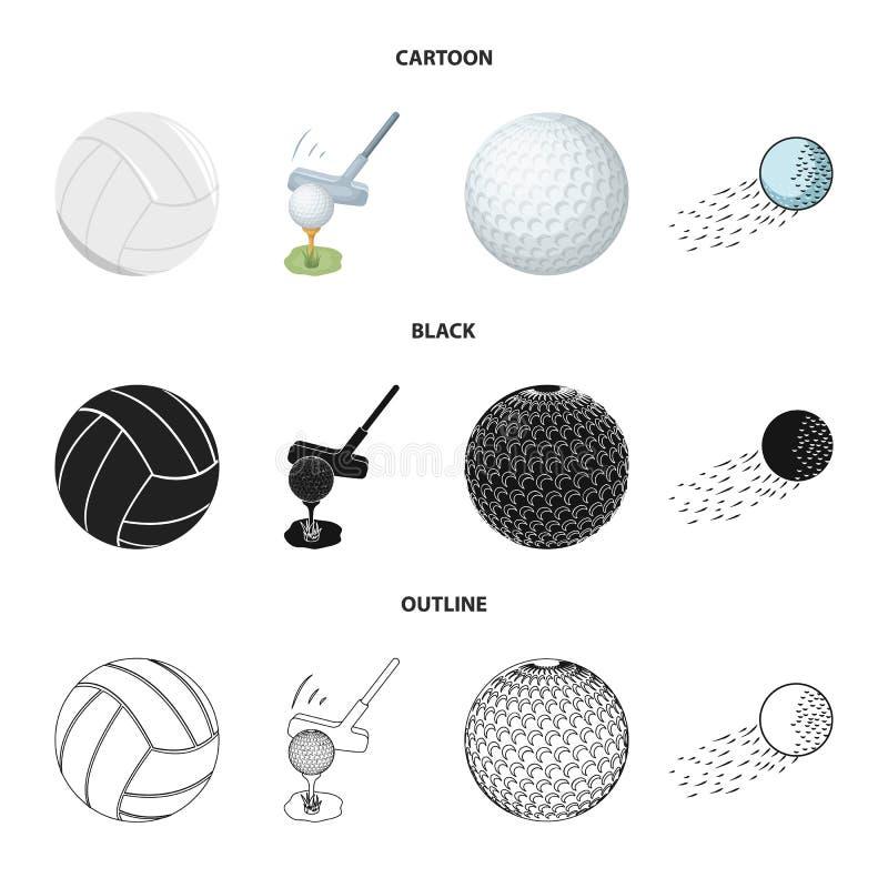 Odosobniony przedmiot pi?ka i pi?ka no?na logo Kolekcja pi?ki i koszyk?wki akcyjna wektorowa ilustracja ilustracja wektor