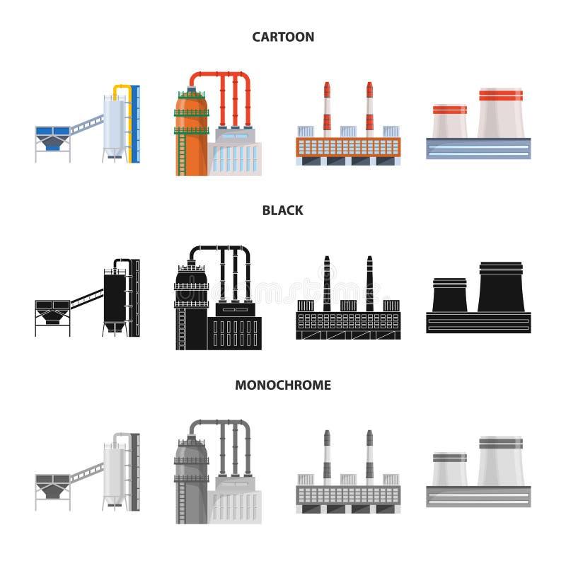 Odosobniony przedmiot produkcji i struktury logo Kolekcja produkcji i technologii wektorowa ikona dla zapasu royalty ilustracja