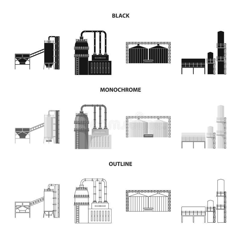 Odosobniony przedmiot produkcji i struktury symbol Kolekcja produkcji i technologii wektorowa ikona dla zapasu ilustracja wektor