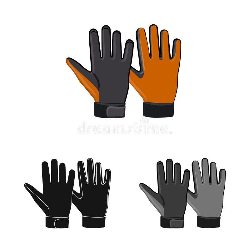 Odosobniony przedmiot rękawiczka i zimy ikona Kolekcja rękawiczki i wyposażenia akcyjna wektorowa ilustracja ilustracji