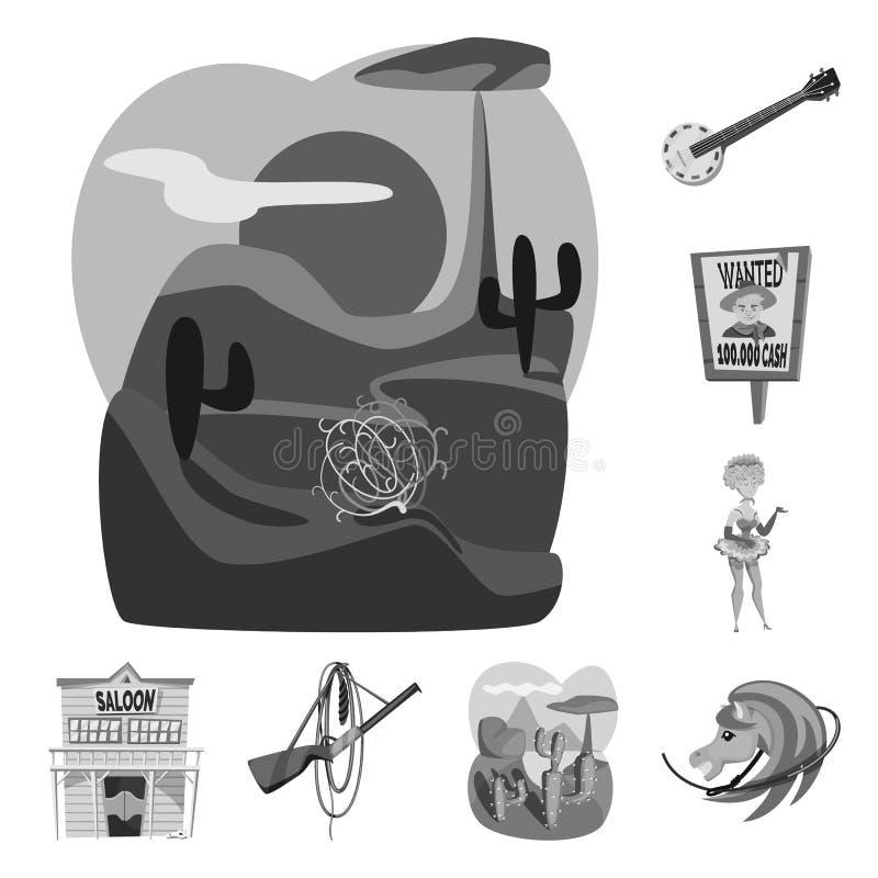 Odosobniony przedmiot rancho i gospodarstwa rolnego logo Set rancho i historia akcyjny symbol dla sieci ilustracji
