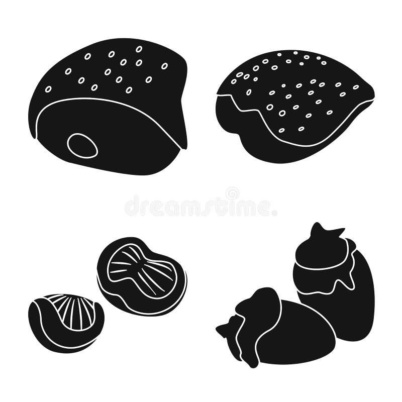 Odosobniony przedmiot restauracja i rolnictwo logo Kolekcja restauracyjny i surowy akcyjny symbol dla sieci royalty ilustracja