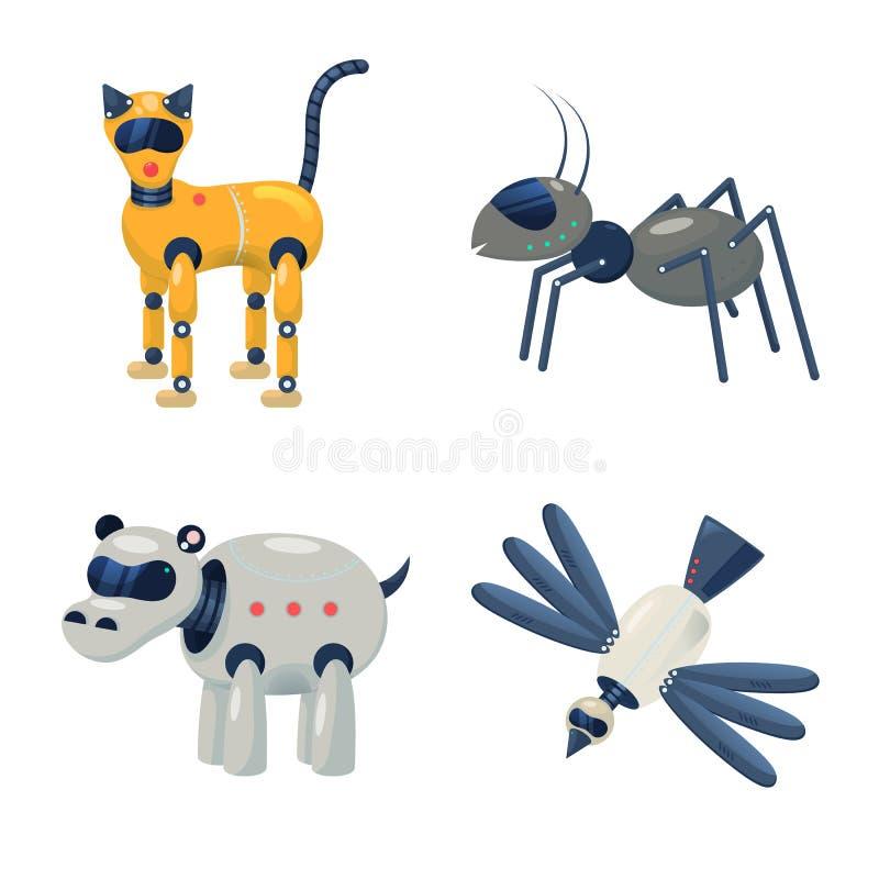 Odosobniony przedmiot robot i cybernetyczny logo Kolekcja robot i automatyzacja akcyjny symbol dla sieci ilustracji